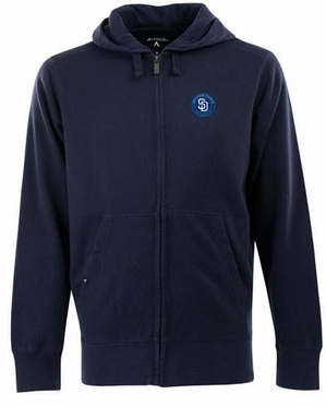 San Diego Padres Mens Signature Full Zip Hooded Sweatshirt (Team Color: Navy)