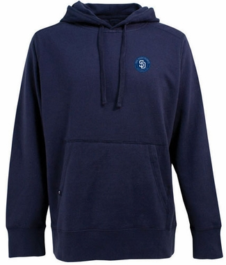 San Diego Padres Mens Signature Hooded Sweatshirt (Team Color: Navy)