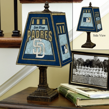 San Diego Padres Small Art Glass Lamp