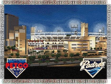 San Diego Padres Stadium Woven Tapestry Blanket