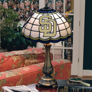 San Diego Padres Stained Glass Table Lamp