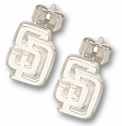 San Diego Padres Sterling Silver Post or Dangle Earrings