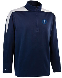 San Diego Padres Mens Succeed 1/4 Zip Performance Pullover (Team Color: Navy) - Large