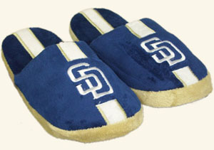 San Diego Padres Team Stripe Slide Slippers
