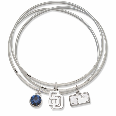 San Diego Padres Triple Bangle Bracelet