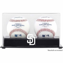San Diego Padres Two Baseball Cube Logo Display Case