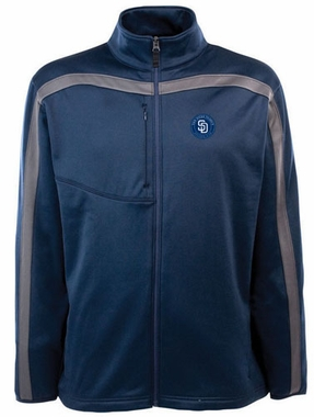 San Diego Padres Mens Viper Full Zip Performance Jacket (Team Color: Navy)
