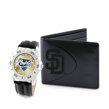 San Diego Padres Watch and Wallet Gift Set