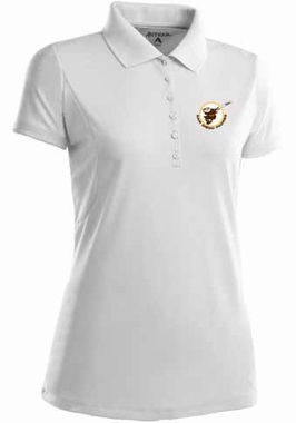 San Diego Padres Womens Pique Xtra Lite Polo Shirt (Cooperstown) (Team Color: White)
