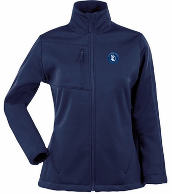 San Diego Padres Womens Traverse Jacket (Color: Navy)