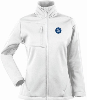 San Diego Padres Womens Traverse Jacket (Color: White)