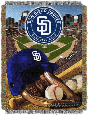 San Diego Padres Woven Tapestry Blanket