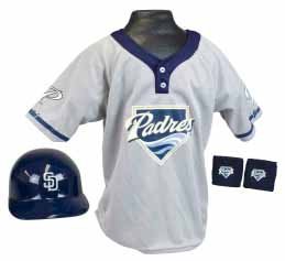 San Diego Padres YOUTH Helmet and Jersey Set