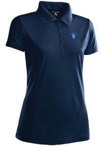 San Diego Pardes Womens Pique Xtra Lite Polo Shirt (Color: Navy) - Small