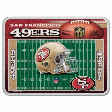San Francisco 49ers 11 x 15 Glass Cutting Board