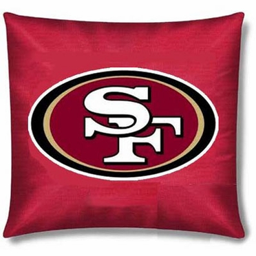 San Francisco 49ers 15 Inch Applique Pillow