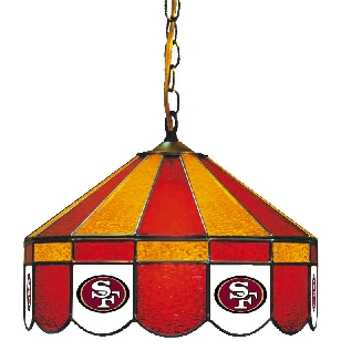 San Francisco 49ers 16 Inch Diameter Stained Glass Pub Light