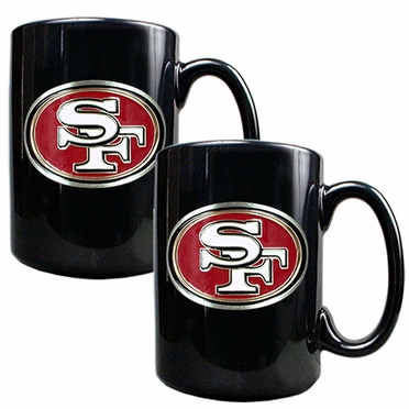 San Francisco 49ers 2 Piece Coffee Mug Set