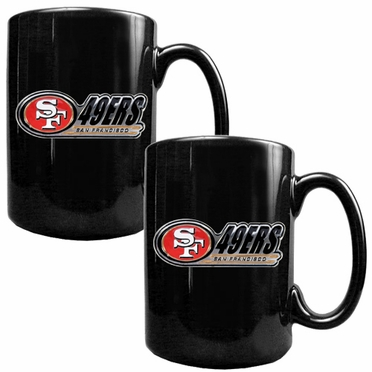 San Francisco 49ers 2 Piece Coffee Mug Set (Wordmark)