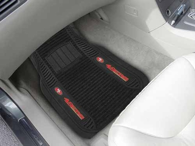 San Francisco 49ers 2 Piece Heavy Duty DELUXE Vinyl Car Mats