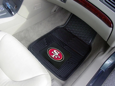 San Francisco 49ers 2 Piece Heavy Duty Vinyl Car Mats