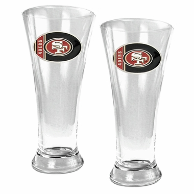 San Francisco 49ers 2 Piece Pilsner Glass Set