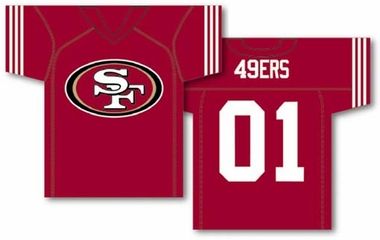 San Francisco 49ers 2 Sided Jersey Banner Flag (F)