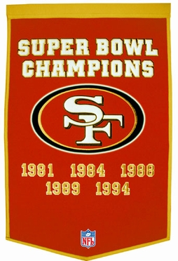 "San Francisco 49ers 24""x36"" Dynasty Wool Banner"