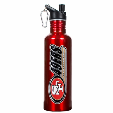 San Francisco 49ers 26oz Stainless Steel Water Bottle (Team Color)