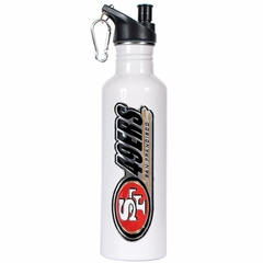 San Francisco 49ers 26oz Stainless Steel Water Bottle (White)