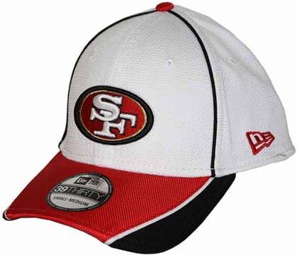 San Francisco 49ers 39THIRTY Abrasion Plus Fitted Hat - White