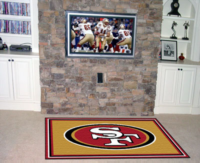 San Francisco 49ers 4 Foot x 6 Foot Rug