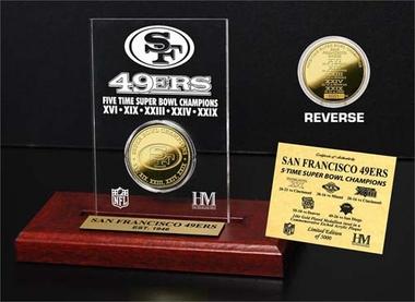 San Francisco 49ers San Francisco 49ers 5x SB Champs Etched Acrylic