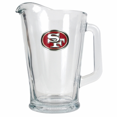 San Francisco 49ers 60 oz Glass Pitcher