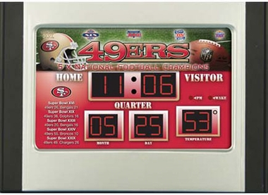 San Francisco 49ers Alarm Clock Desk Scoreboard