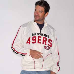 San Francisco 49ers All American Full Zip Vintage White Track Jacket - Small