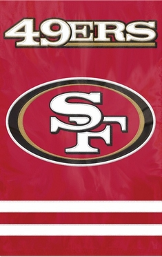 San Francisco 49ers Applique Banner Flag