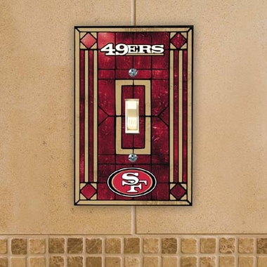 San Francisco 49ers Art Glass Lightswitch Cover
