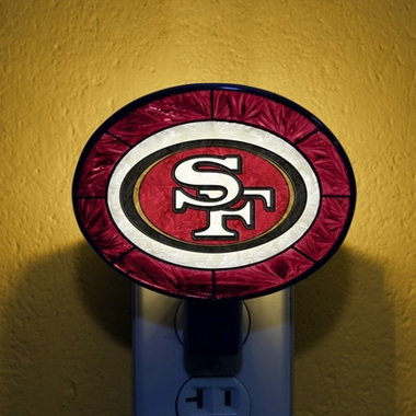 San Francisco 49ers Art Glass Night Light