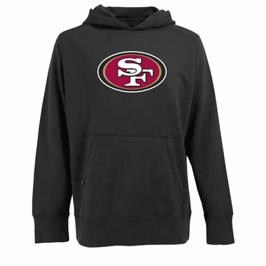 San Francisco 49ers Big Logo Mens Signature Hooded Sweatshirt (Alternate Color: Black)