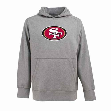 San Francisco 49ers Big Logo Mens Signature Hooded Sweatshirt (Color: Gray)
