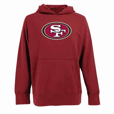 San Francisco 49ers Big Logo Mens Signature Hooded Sweatshirt (Team Color: Red)