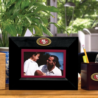 San Francisco 49ers BLACK Landscape Picture Frame