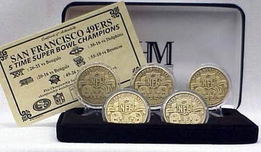 San Francisco 49ers SAN FRANCISCO 49ERS BRONZE SUPER BOWL COLLECTION