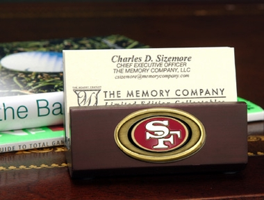 San Francisco 49ers Business Card Holder