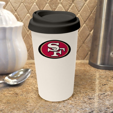 San Francisco 49ers Ceramic Travel Cup