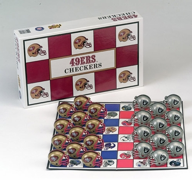 San Francisco 49ers Checkers Set