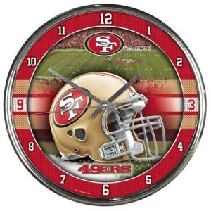San Francisco 49ers Chrome Clock