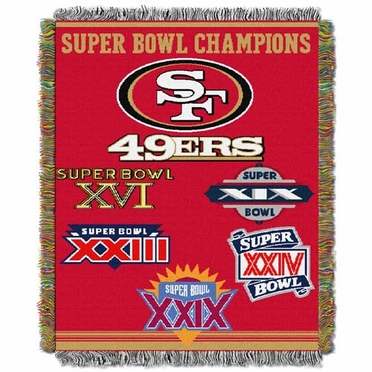 San Francisco 49ers Commerative Jacquard Woven Blanket