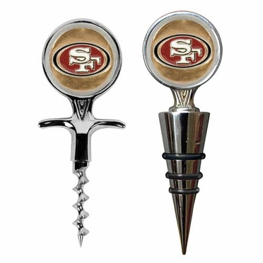 San Francisco 49ers Corkscrew and Stopper Gift Set